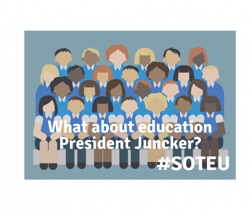 SOTEU: Students disappointed seeing education again at the bottom of the agenda.