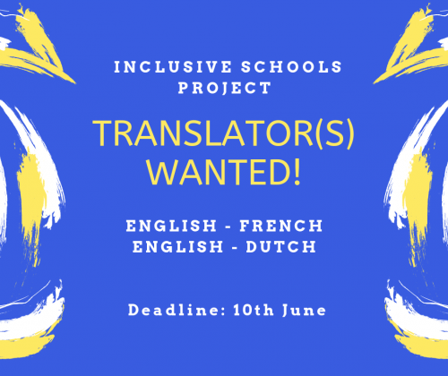 Translator(s) Wanted for our Inclusive Schools Project!