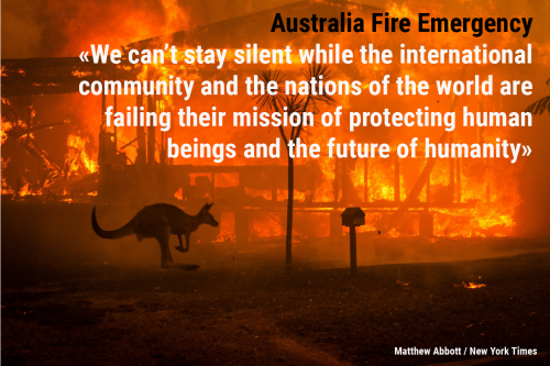 Global Students' Voice on the Australian Fire Emergency