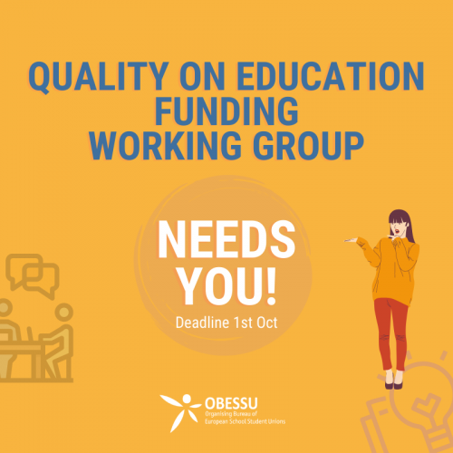 "Open Call for Members of the Working Group ""Quality on Education Funding"""